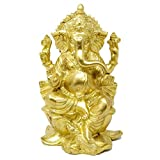 Handmade Indian Brass Ganpati Ganesha Statue for Pooja Mandir Home 9.5 inches,4 Kg