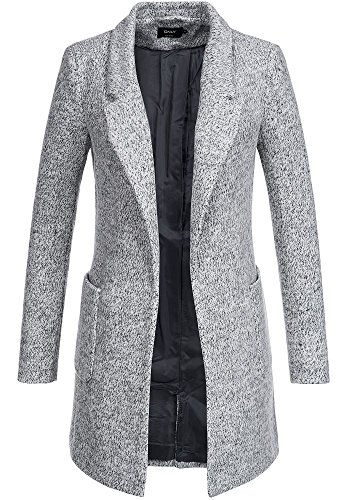 Only Damen Blazer Kurzmantel Übergangsmantel Light Grey Melange XS