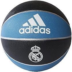 adidas Rm Pelota Línea Real Madrid, Hombre, Negro/Azuint/Blanco, 7