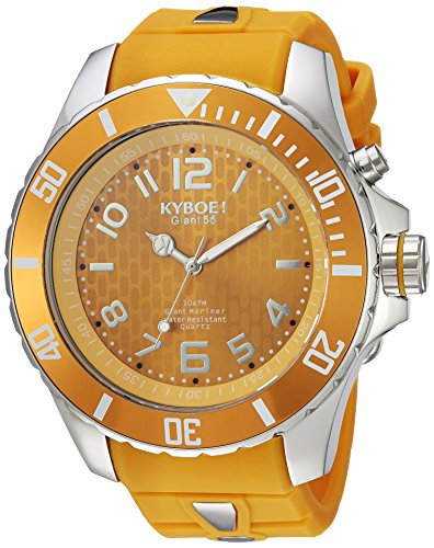 KYBOE Unisex-Adult Analogue Quartz Watch with Silicone Strap SC.55-006.15