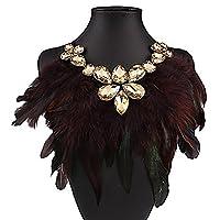DUUMY Women Fashion Personality Popular Full Rhinestone Choker Crystal Short Necklace (2.5 cm wide) 1pc , rainbow