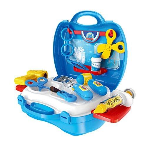 JIM'S STORE Arztkoffer Doktorkoffer für Kinder Rollenspiele Doktor Arzt Spielzeug Set Medizin Kasten Arztkoffer Kinder ab 2 Jahre