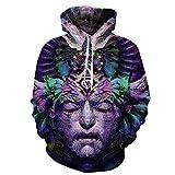 Cowesoo Space Galaxy Männer/Frauen 3D-Sweatshirt Drucken Traum wie Gesicht Hoodies