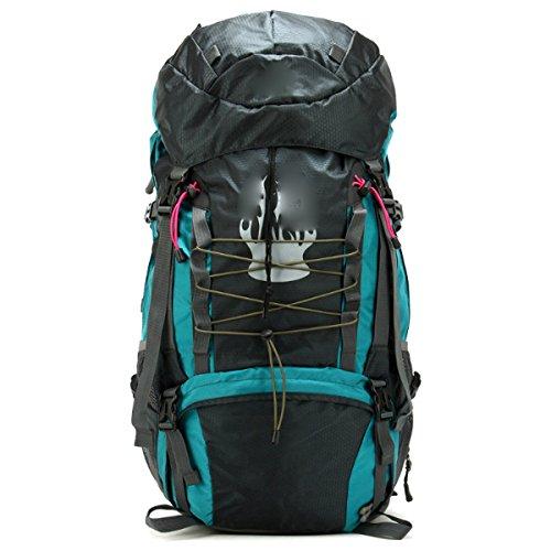 Outdoor Wasserdichte Klettern Reise Camping Multifunktions Rucksack,Rosered Blue