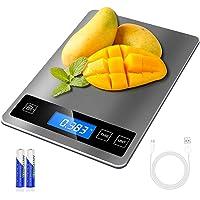 Balance Cuisine Numérique Electronique, 15kg/33lb Balance Alimentaire de Précision 1g ,Acier Inoxydable Batterie ou…