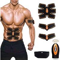 Weijin Músculo estimulador abdominal cinturón de tonificación, entrenador de la cintura para la pérdida de peso hombres mujeres ABS ejercicio equipo, cinturón de gimnasia más delgado gimnasio de la casa máquina de fitness