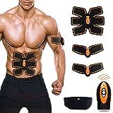 Weijin Elektrischer Muskelstimulation EMS TrainingSgerät Fitness Bauch Massagegürtel Elektrostimulation Fettverbrennung Massage-gerät mit Fernbedienung