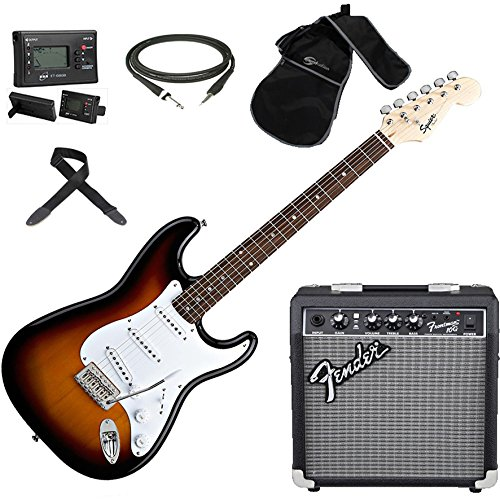 fender-squier-stratocaster-sb-kit-electric-guitar-amplifier-fender-frontman-10-g