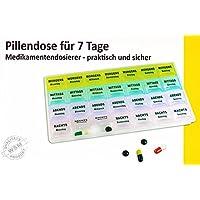 Preisvergleich für 7 Tage PILLENBOX Pillendose Medikamentenbox Tablettenbox Pillen Dose Box DE 11
