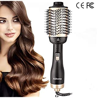 Adkwse 5 in 1 Haartrockner Multifunktions Heißluftbürste Föhnbürste Warmluftbürste Glatthaarbürste Heißluftkamm Lockenwickler Für alle Haartypen
