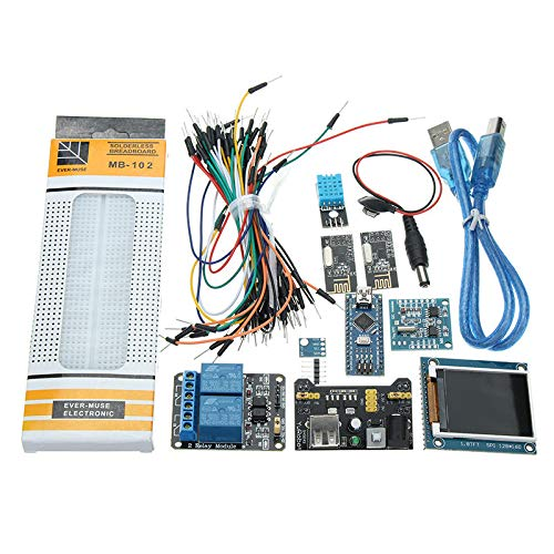 Nano V3 Climate Monitor Kit with 1.8 Inch TFT GY-68 BMP180 DHT11 RTC Relay Module for Arduino Monitor Relay