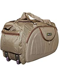 N Choice Waterproof Polyester Lightweight 60 L Luggage Brown Travel Duffel  Bag with 2 Wheels 172169b00e4b3