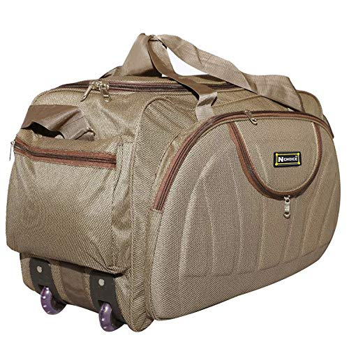 N Choice Waterproof Polyester Lightweight 60 L Luggage Brown Travel...