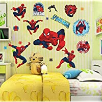Spiderman Decorative Wall Stickers for Nursery Kids Room Decorations Home Cartoon Decor Movie Fans Mural Wall Art PVC Poster