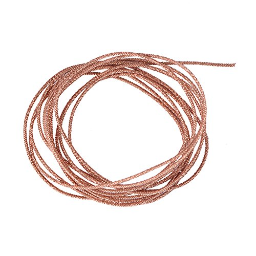VBESTLIFE Lautsprecherkabel Subwoofer Woofer Lead Wire Repair 8 Stränge Geflochtener Kupferdraht(2m) (Lautsprecher-draht-platte)