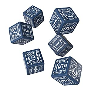 Q WORKSHOP Battletech House Steiner RPG Dice Set 6 x D6