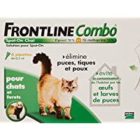 Merial - Chats - FRONTLINE COMBO - Chat - 6pip - Anti-puce, anti-tique