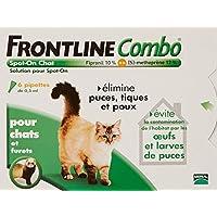 FRONTLINE Combo Anti-parasitaire Puce et Tique pour chat 6 Pipettes