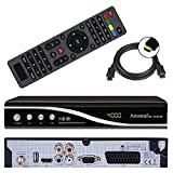 HD Sat Receiver Amstrad (USB, HDMI, Scart, Audio Cinch, Digital Audio Out, Full HDTV, DVB-S2) + GRATIS HDMI Kabel - netshop25 Set