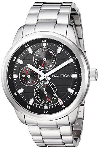 Nautica Men's Analog Japanese-Quartz Watch with Stainless-Steel Strap NAPFRL005
