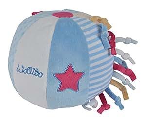 Simba 109249917 - Steinbeck Lillebi Wollibo, Activity Ball, 15 cm, blau