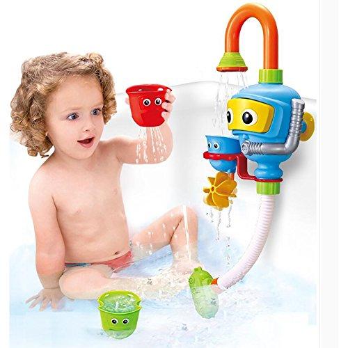 YINGER Baby Bad Dusche Spielzeug, Taucher Spray Toys Spray Station Badewanne Spielzeug - KEINE Batterien Keine Stromversorgung Wasserhahn Spielzeug , Bild farbe