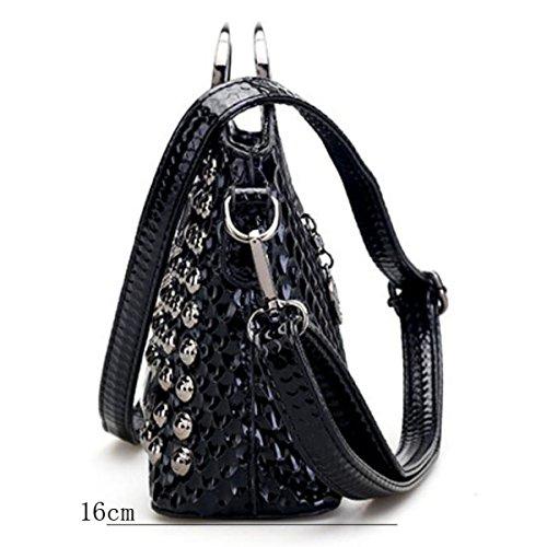 Diamant Neue Handtaschen Eisen Handtasche Schwarze Umhängetasche Black