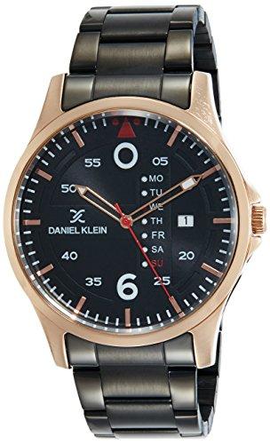 Daniel Klein Premium-Gents Analog Gunmetal Dial Men's Watch - DK11691-4