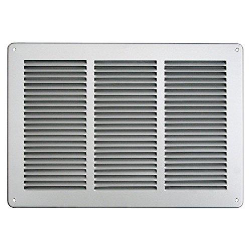 - Grille de ventilation métallique - Grille ventilation métal 340x240mm - Couleur inox