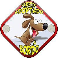 Placa bebé a bordo perrito adoptado a bordo perro a bordo
