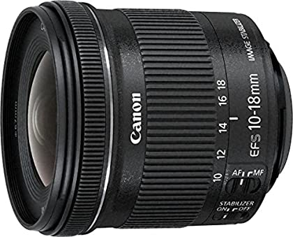 Canon 9519B009 - Objetivo para cámara EF-S 10-18mm f/4.5-5.6 IS STM + EW-73C + Lens Cloth (SLR, 14/11, ultra-ancha, STM, EOS, Canon), color negro