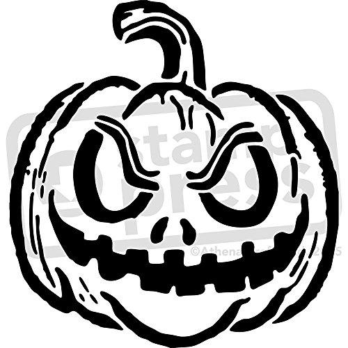 Schablonen Kürbis Einfache (A5 'Halloween-Kürbis' Wandschablone / Vorlage)