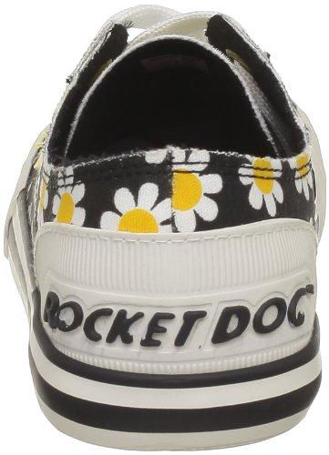 Rocket Dog Jazzin, Baskets mode femmes Noir (Daisy Field/Stripe Black)