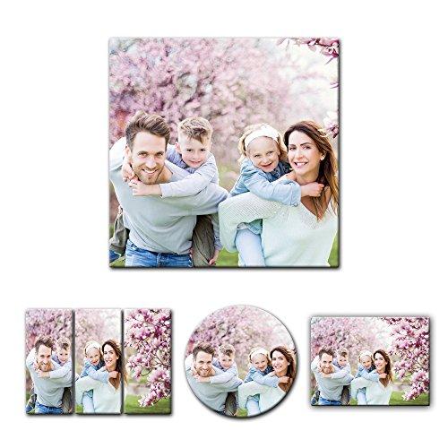 hrem Wunschmotiv - Quadrat-Format - 30x30 cm - Mein Foto auf Leinwand - SOFORT VORSCHAU - Eigenes Bild - Dein Wunschmotiv aufgespannt auf Bilderrahmen ()