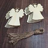 Lavillede Christbaumschmuck, Holzfolie, Weihnachtsschmuck, Geschenkanhänger (Engel), 10 Stück -