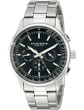 Akribos XXIV Herren-Armbanduhr AK788SSB Analog Quarz