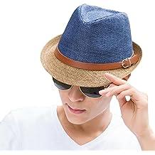 Leisial Cappello di paglia a due colori Cappello da uomo e da donna Cappello  jazz Cappello b17e54e2af28