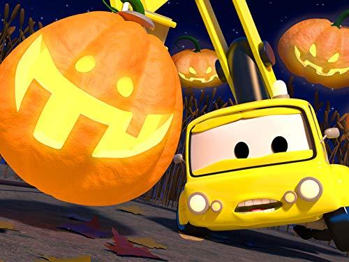 Kürbis Wettbewerb/Ben der Traktor/Chuck das Hebebühnenfahrzeug verwandelt sich in ein Gespenst -