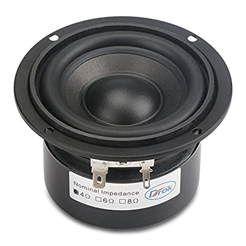 DROK® 3-inch 25W HIFI Subwoofer Speakers with 87dB High Sensitivity, 4Ω Circular Loudspeakers with Super Low Pitch, Double Magnetic Anti-magnetic Home Stereo Woofer Audiophile