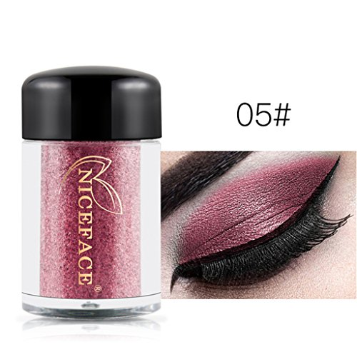 Vovotrade Heiß !! NICEFACE 17 Farben glänzende Augenschatten Make-up Wasserdichte Perle Metallic Lidschatten (Make Metallic Up Palette Silber)