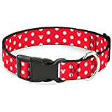 Buckle Down Minnie Mouse Polka Dot/Mini Silhouette rot/weiß Kunststoff Clip Halsband
