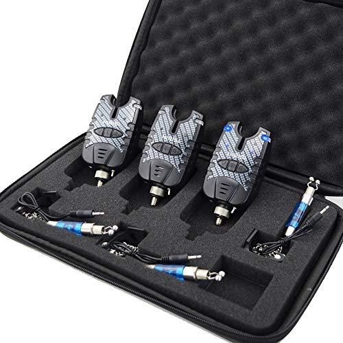 Fischerei-Bissanzeiger und LED-Swinger-Set Blaue LED-Lichtfischerei-Alarmanzeigen (B1138)