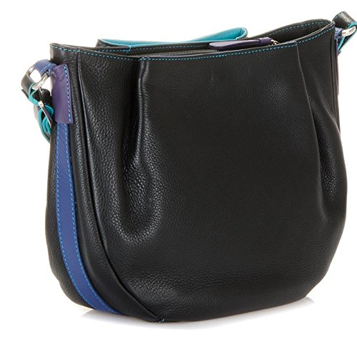 MyWalit en cuir bandoulière Hobo Sac Verona Collection 1962 Multicolore - Black Pace