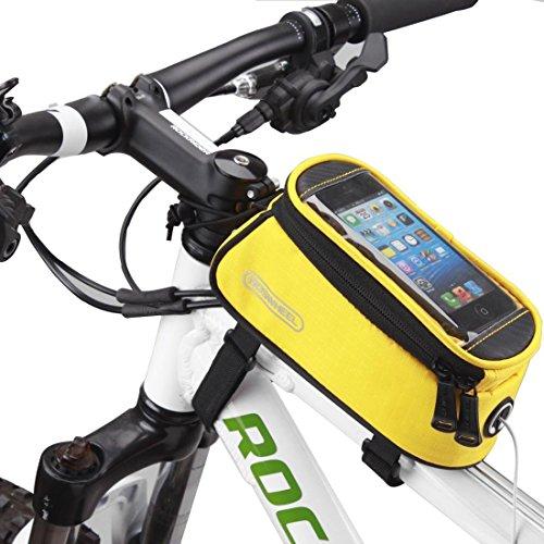 DCCN bicicletta della bici anteriore Telaio Superiore manubrio Borsa /Custodia /Sacchetto per 5.5 pollice smartphone mobile iPone 6 / 6s / 6 plus
