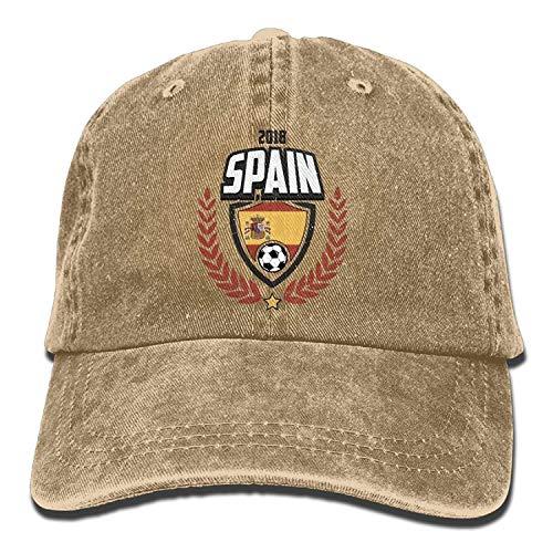 errterfte Spain Football 2018 Adult Cowboy Baseball Caps Denim Hats Men Women Personalized Hat Comfortable Adjustable - Stricken Jordan Hut
