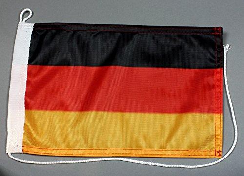 Preisvergleich Produktbild Bootsflagge Deutschland 20 x 30 cm in Profiqualität Flagge Motorradflagge