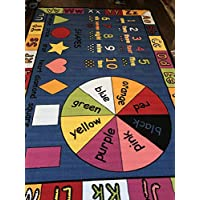 Non Slip Kids Dark Blue Multi Learning 200cm x 300cm Educational playmat Provide Hours of Fun Ideal for Nursery, Home, Bedrooms Or School Environment