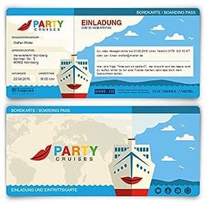 Einladungskarten zum geburtstag 40 st ck kreuzfahrt for Amazon einladungskarten
