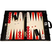 Wycliffe Brothers Tournament Backgammon Set - Black Croco with Cream Field (black points) - Gen III
