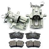 2x Bremssattel + Bremsscheiben + Bremsbeläge hinten NB PARTS GERMANY 10069853